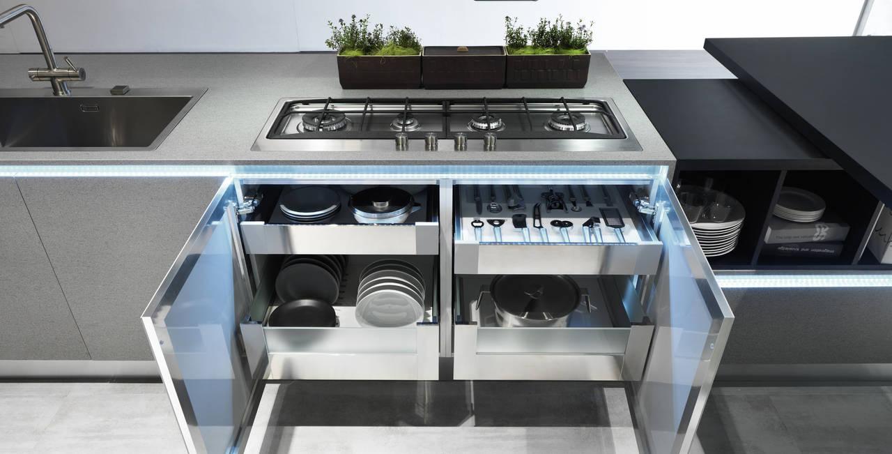Dentro al cassetto. Nuove attrezzature per lo storage | Ambiente Cucina