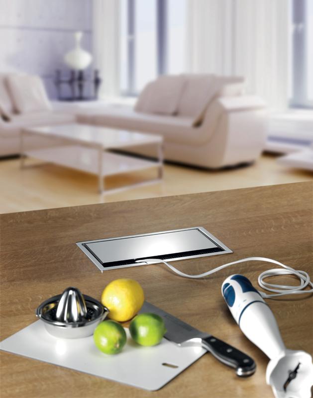 Corrente integrata sul top ambiente cucina - Prese a scomparsa cucina ...