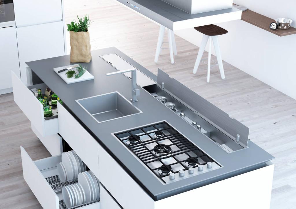 Dentro al cassetto nuove attrezzature per lo storage - Mobile con cassetti per cucina ...