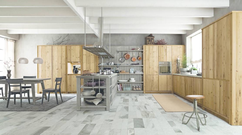 Cucine in legno un ambiente caldo e vissuto ambiente cucina - Cucina bianca e legno naturale ...