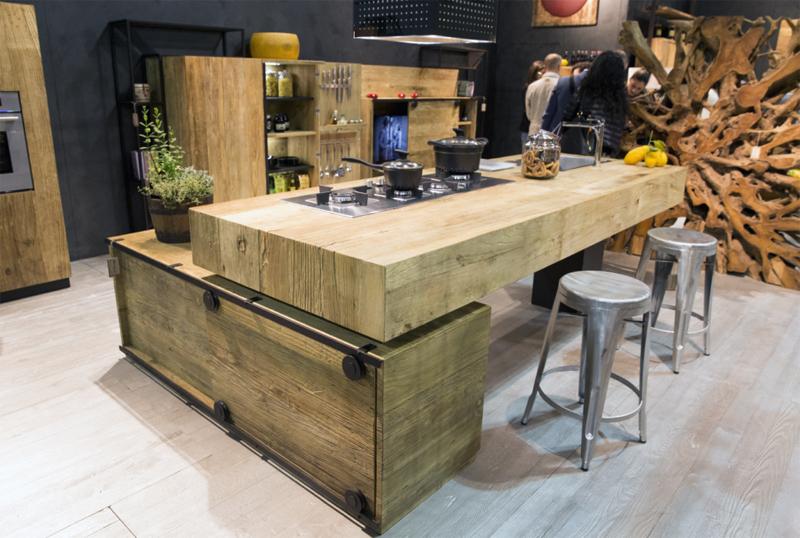 Un 39 aria molto vissuta ambiente cucina - Cucine legno grezzo ...