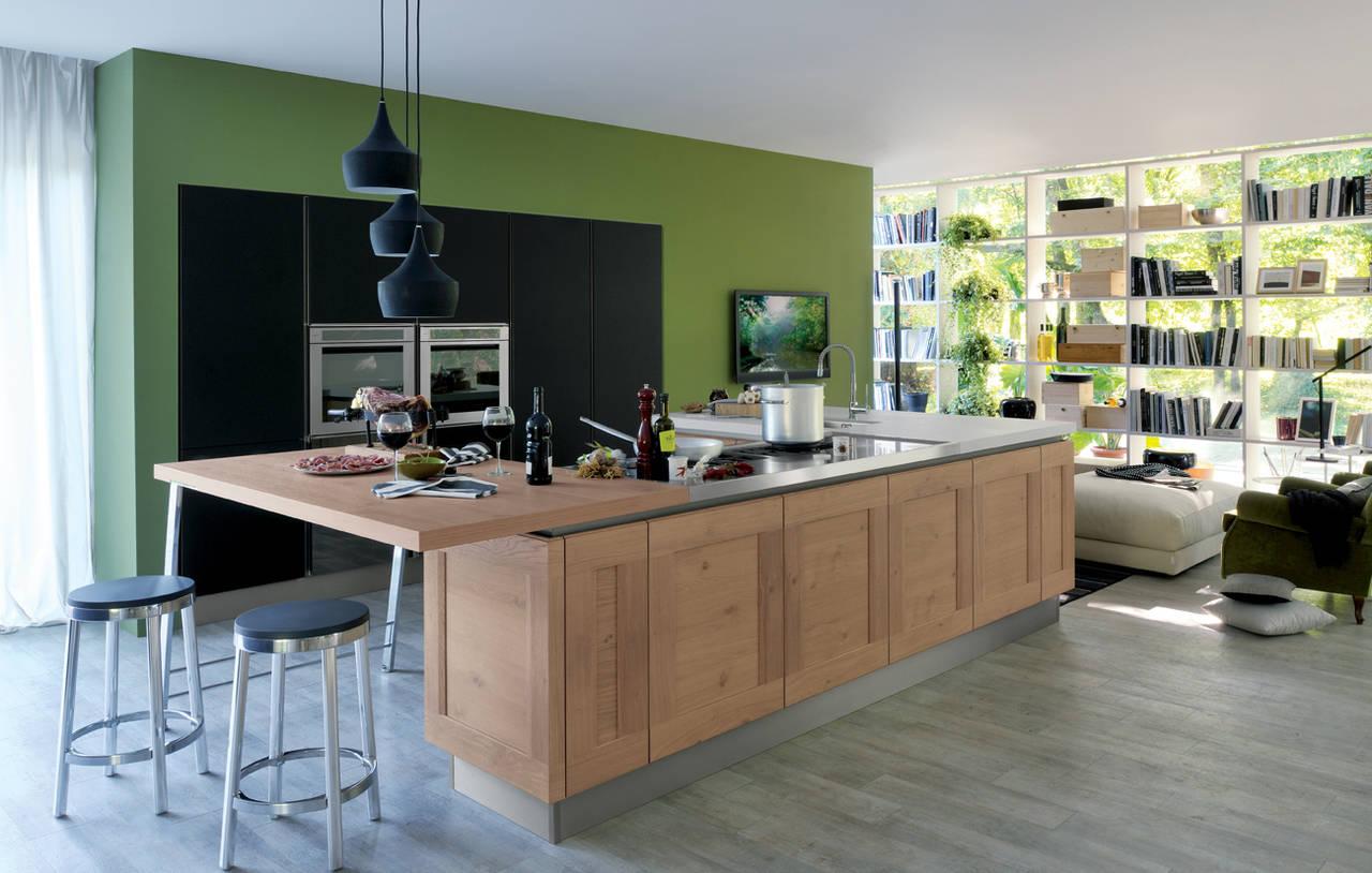 Cucine in legno un ambiente caldo e vissuto ambiente cucina - Cucine legno e acciaio ...