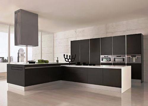 Cucine Con Bancone In Legno : Cucina in stile scandinavo con armadi bianchi bancone in legno e