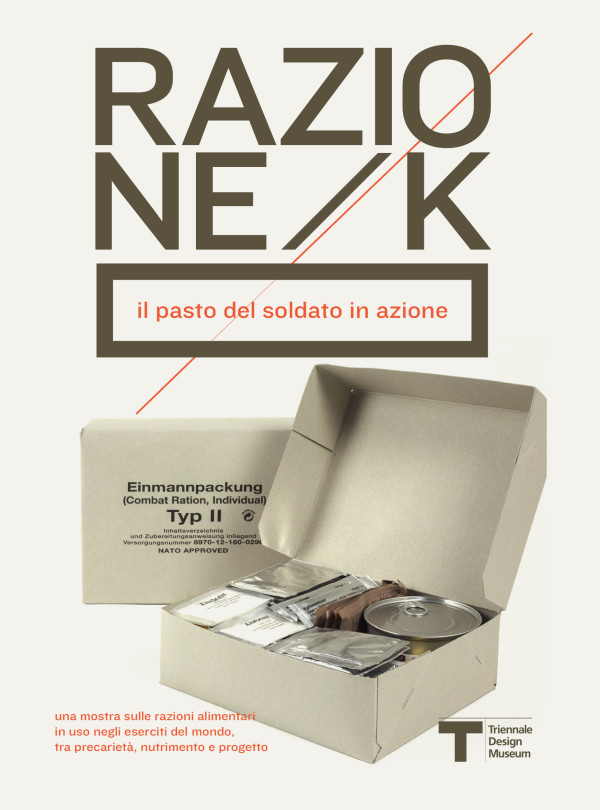 Razione K. Il pasto del soldato in azione. Dal 22 gennaio al Triennale Design Museum di Milano.