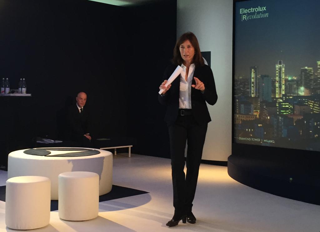 Manuela Soffientini, amministratore delegato della divisione commerciale Electrolux Italia durante l'evento organizzato per i produttori di cucine il 15 gennaio a Milano.