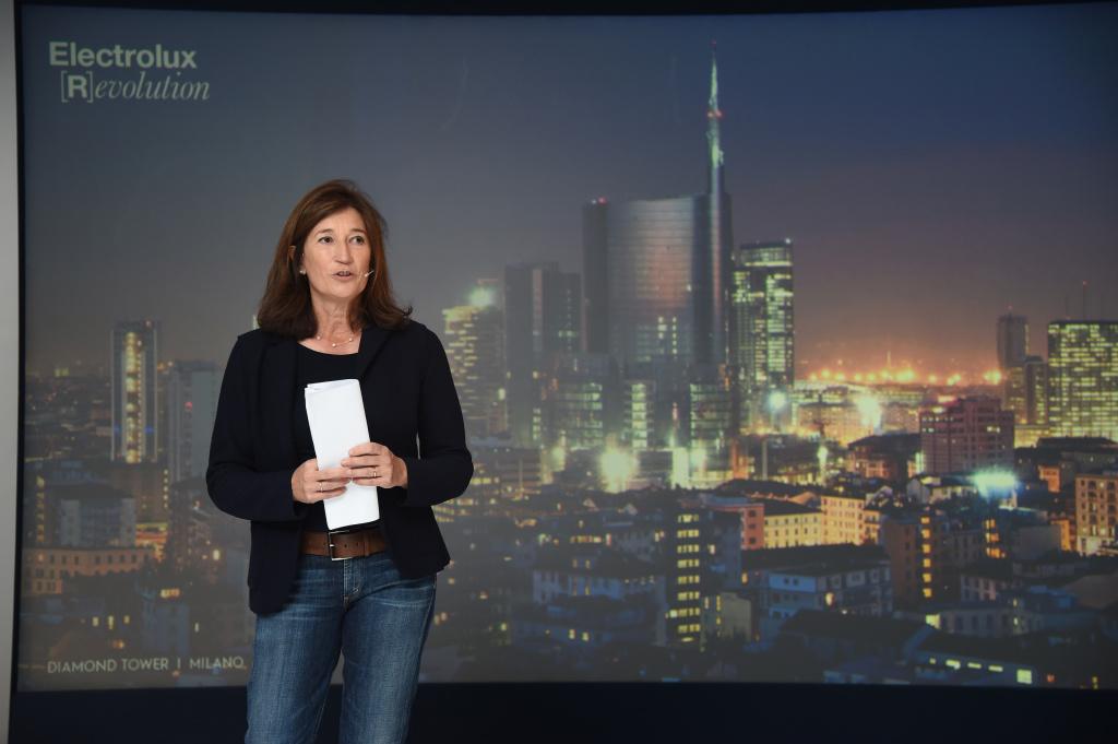 Manuela Soffientini, amministratore delegato della divisione commerciale Electrolux Italia durante l'evento organizzato per la stampa il 14 gennaio a Milano.