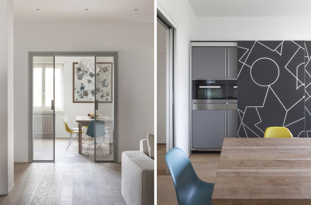 Casa MAMA, MARGstudio Archiettura & Design, Bergamo. Cucina: Artematica Vitrum Valcucine