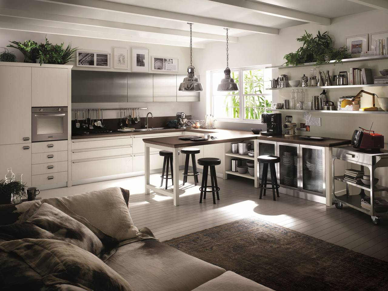 Atmosfere industriali per la cucina urbana ambiente cucina for Cucine in stile