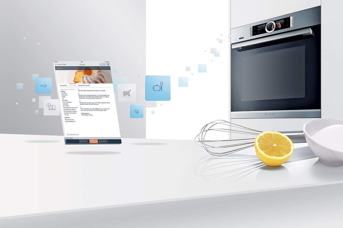 Cucina domotica con Home Connect di Bosch e Siemens