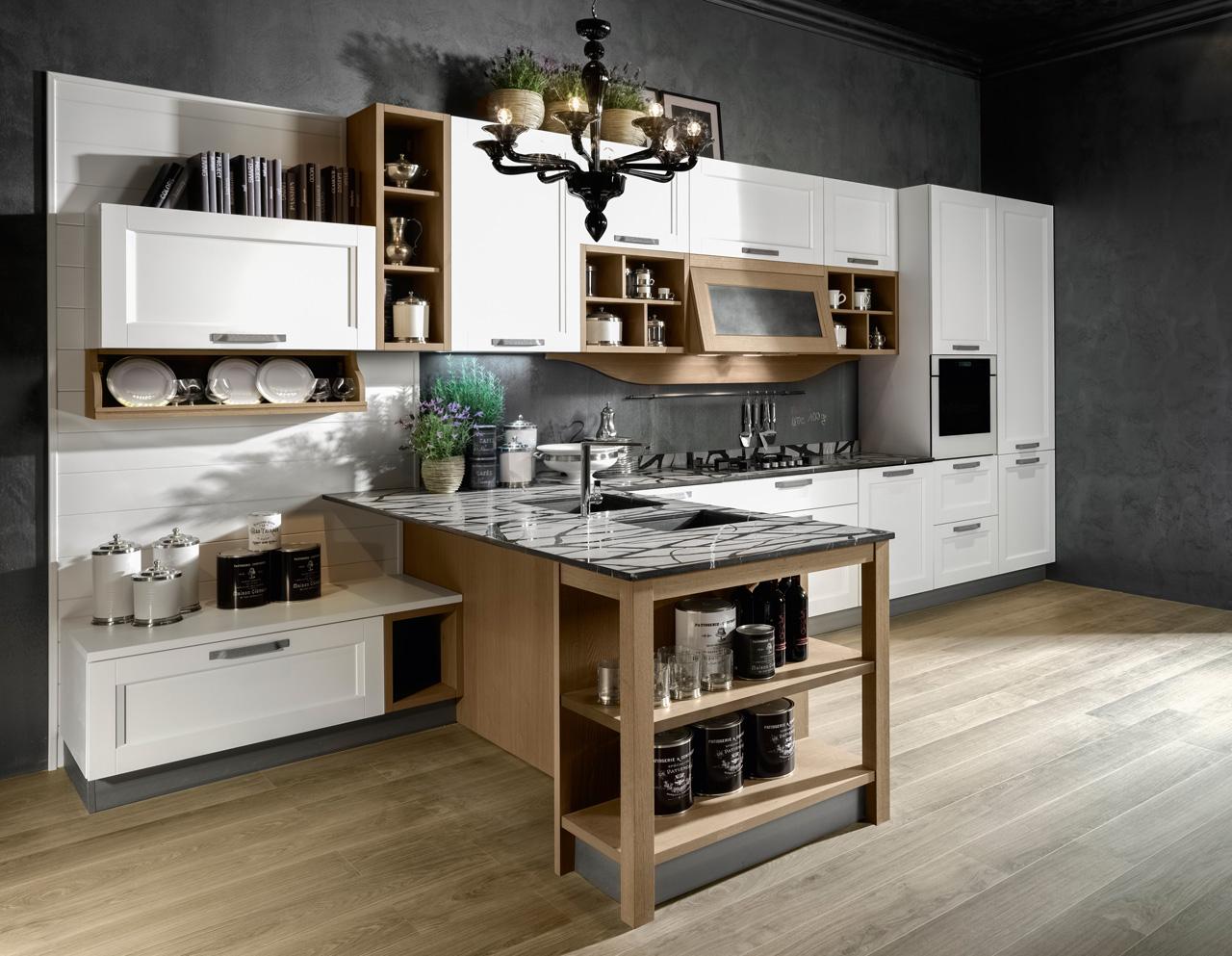 Cucine Dal Gusto Classico Contemporaneo Ambiente Cucina #5E4B32 1280 993 Ripiani Per Pensili Cucina Ikea