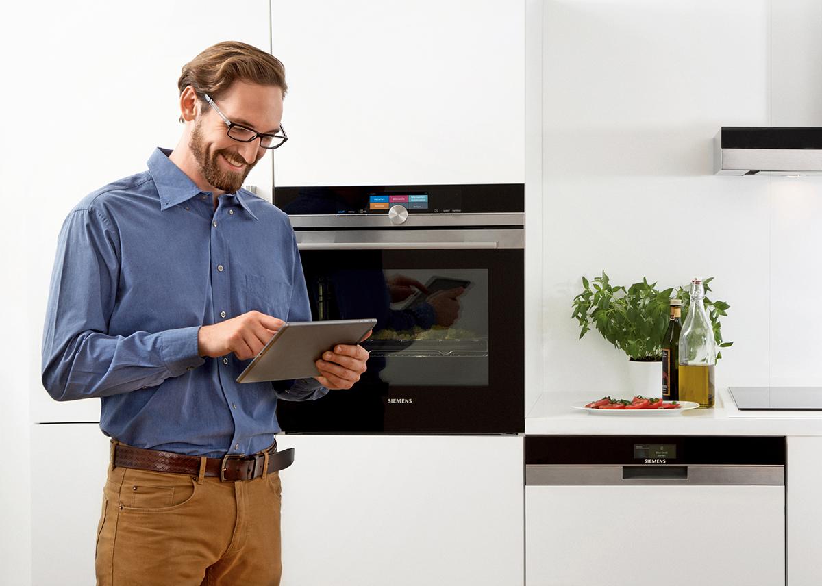 cucina domotica, siemens per la smart home