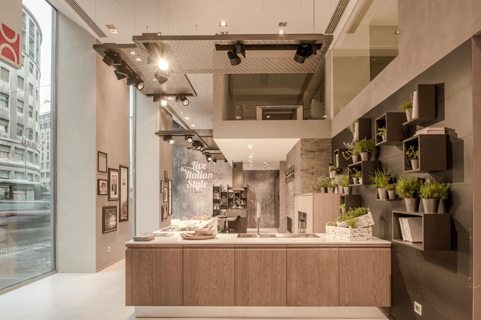 Berloni vetrina concept store Milano 2015