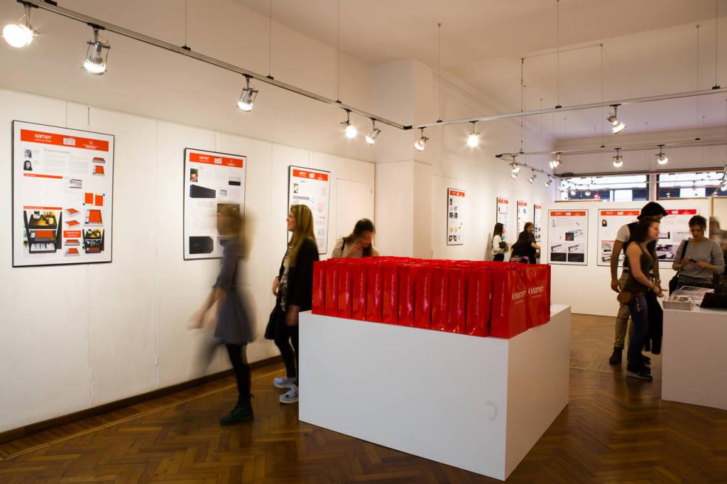 Galleria Ponte rosso Milano - concorso Samet - Accademia di Brera 2015 - Fuorisalone