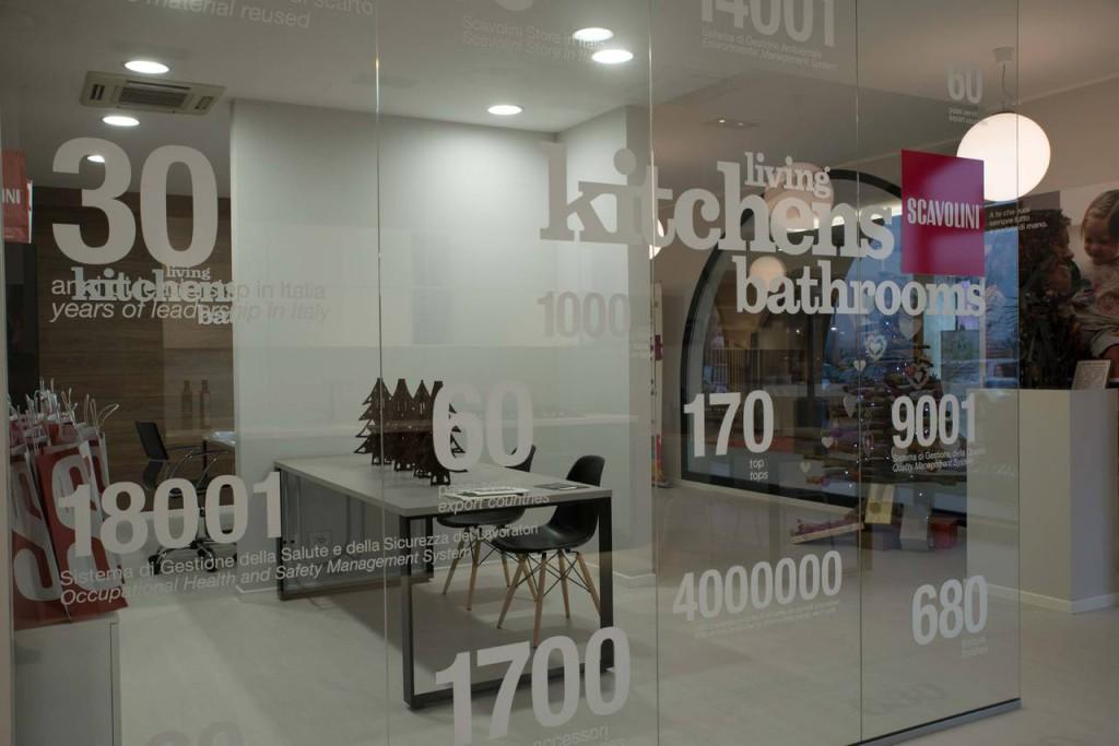 Scavolini Store Manerbio - vetrina retail ambiente cucina web