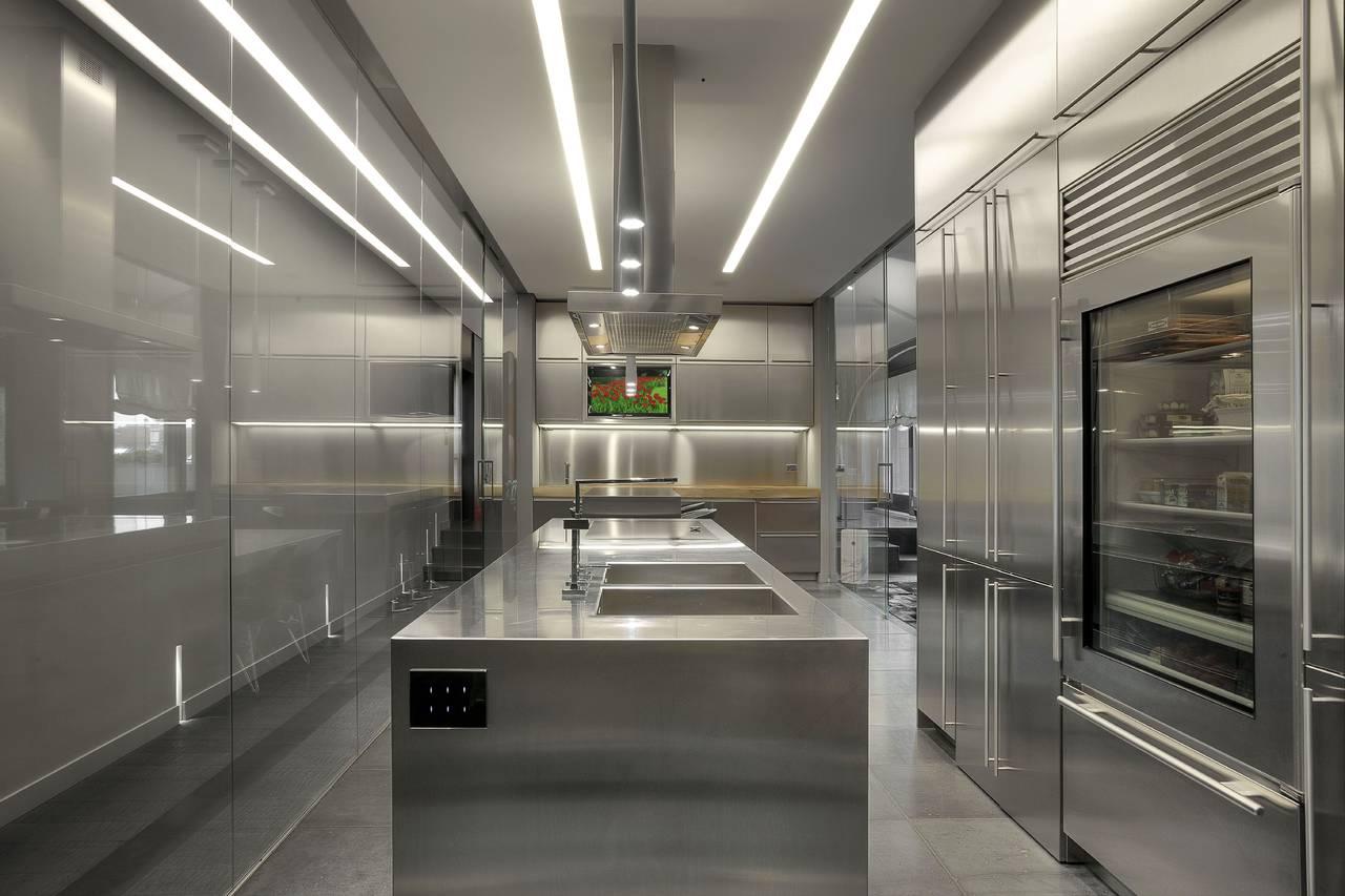 Attico a Torino, Ambiente Cucina, cucine in acciaio