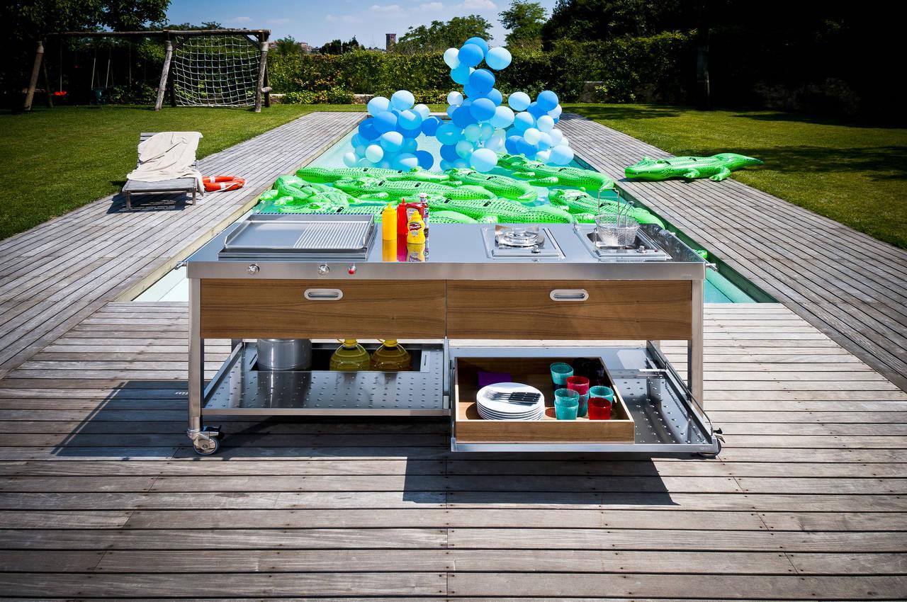 Cucinare e vivere outdoor ambiente cucina - Cucina per esterno ...