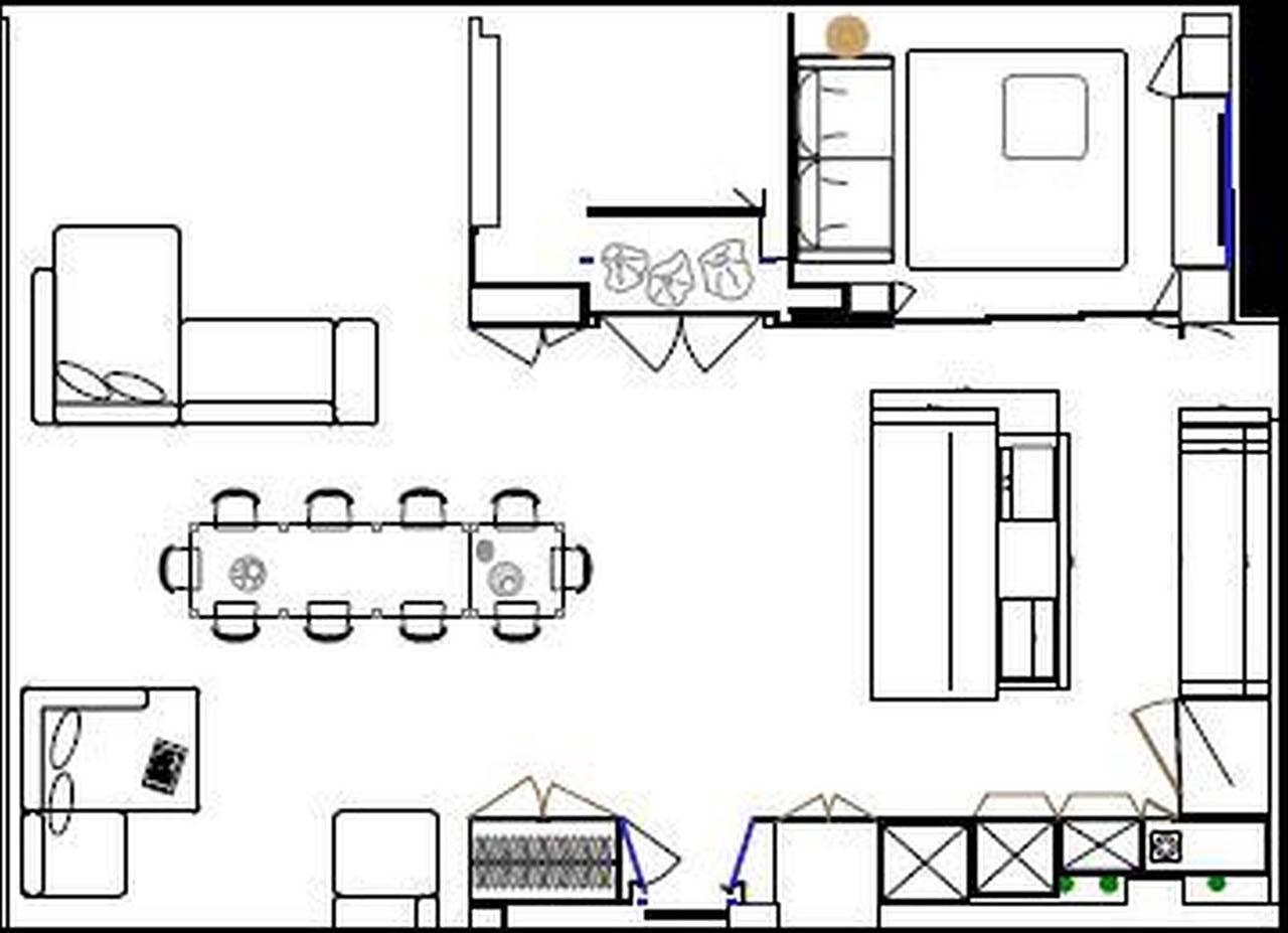 Cucina su misura design apart a new york ambiente cucina - Pianta di una cucina ...