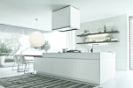 Cucina design Alea Varenna con DuPont Corian bianco