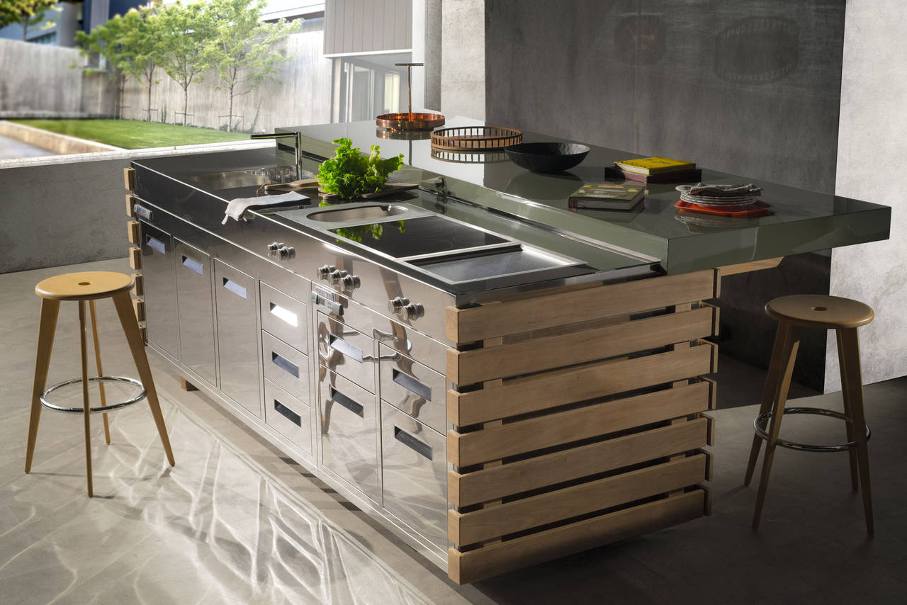 Cucinare e vivere outdoor ambiente cucina - Piano cottura da esterno ...