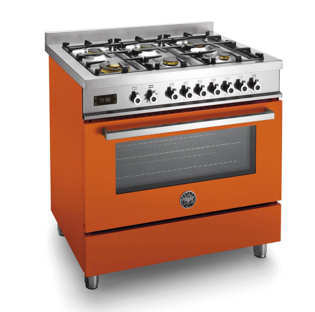 Serie Professional Bertazzoni La Germania colore arancio 2015 forno