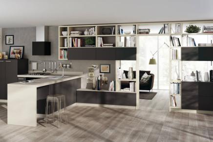 Scavolini interpreta la zona living ambiente cucina for Cucine e salotti insieme