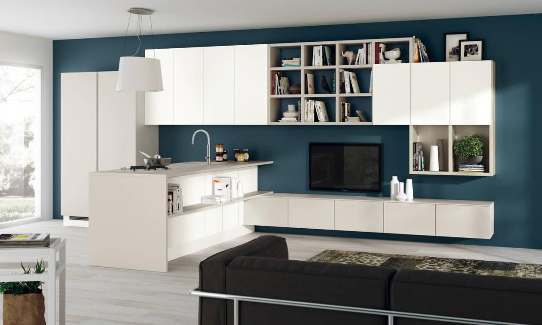 scavolini interpreta la zona living | ambiente cucina - Living Soggiorno Cucina
