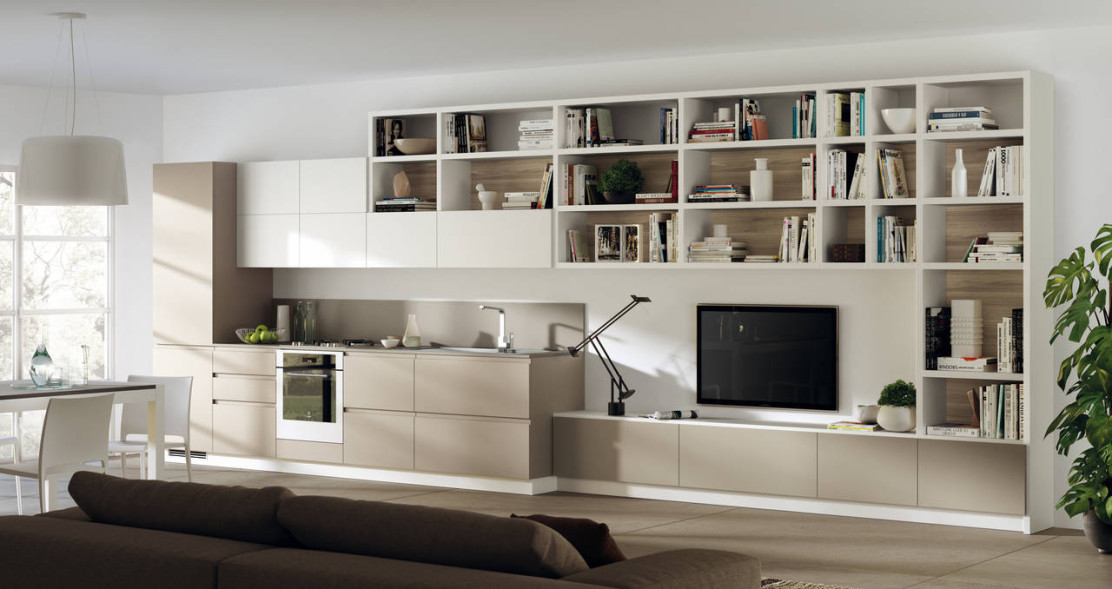 Scavolini interpreta la zona living ambiente cucina for Zona living design