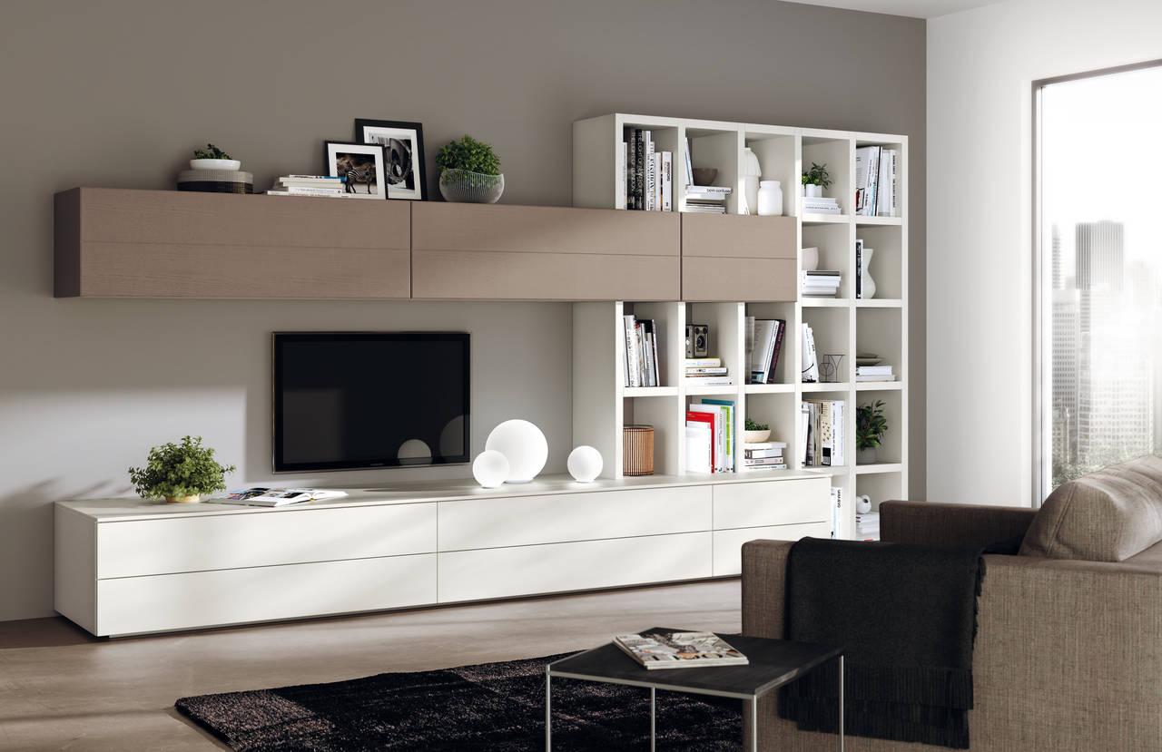 Soggiorno Living Of Scavolini Interpreta La Zona Living Ambiente Cucina