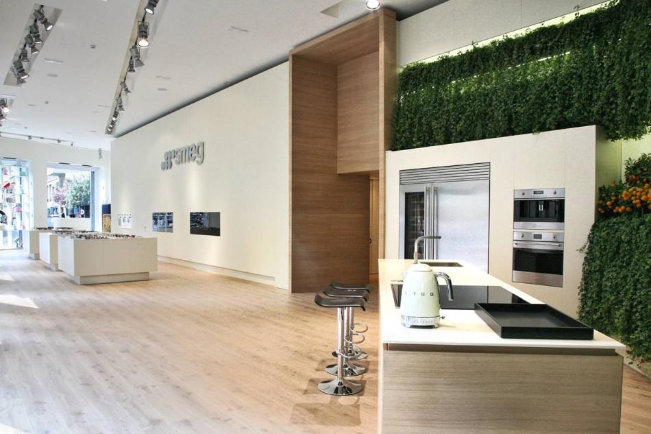 Il nuovo concept store di Smeg, aperto in via Moscova, 58, a Milano.