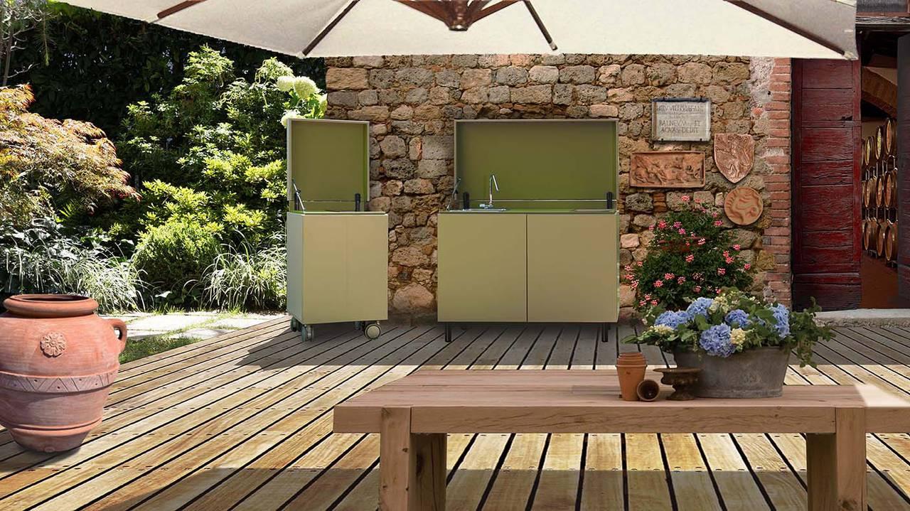 Piano Di Lavoro Cucina Esterno.Cucinare E Vivere Outdoor Ambiente Cucina