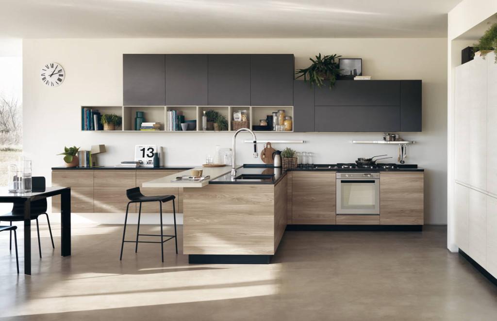 Cucina all\'Art Design Box arredata Scavolini e Faber