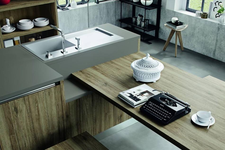 Cucine con finiture effetto legno ambiente cucina - Cucina arredo3 kali ...