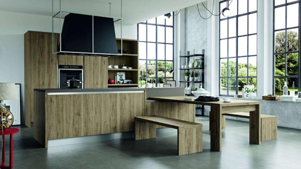 Veneta Cucine O Snaidero cucine con finiture effetto legno | ambiente cucina