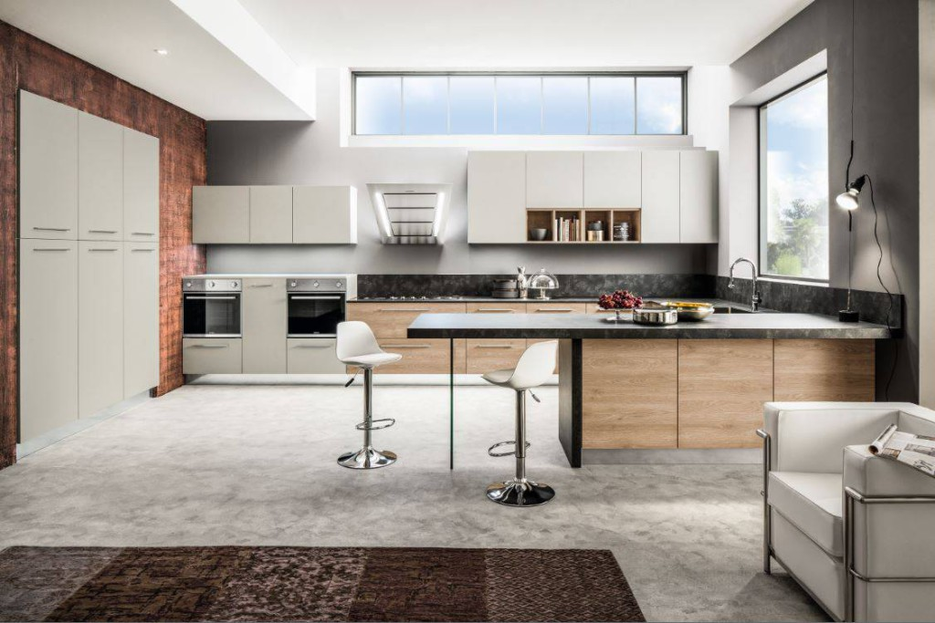 Cucine con finiture effetto legno ambiente cucina - Arrex cucine moderne ...