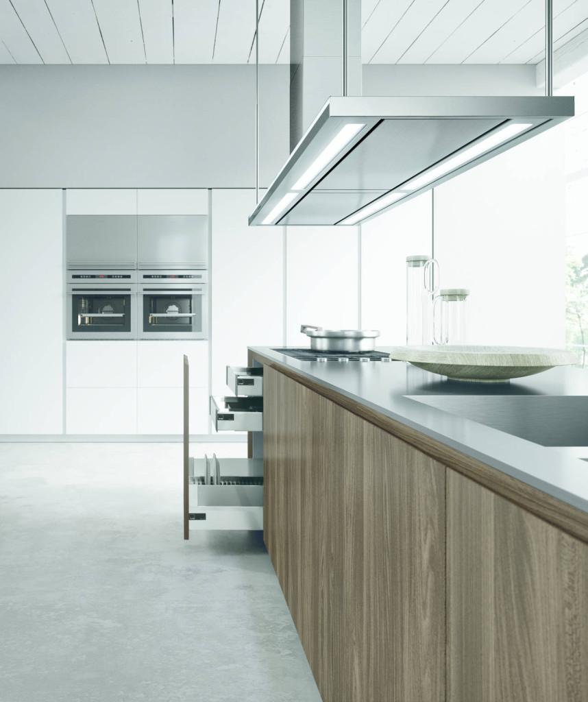 Cucina in laminato effetto legno modello AK 02 di Arrital