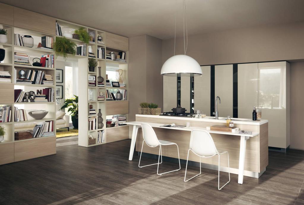 Cucina in laminato effetto legno modello Motul di Scavolini