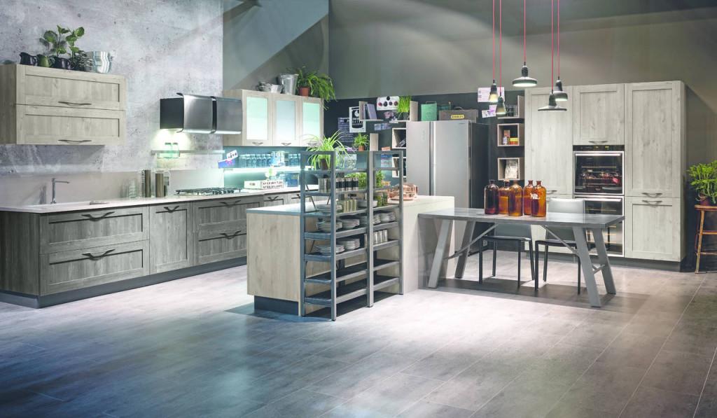Cucina in laminato effetto legno modello City di Stosa