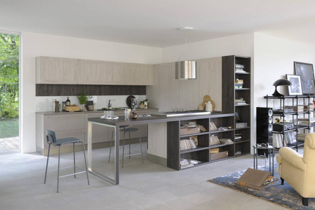 Cucine con finiture effetto legno ambiente cucina - Cucine in legno chiaro ...