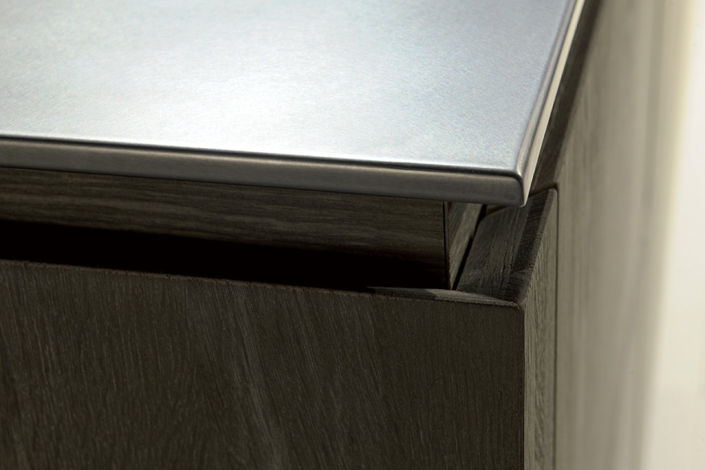 velvet èlite di ged cucine con tre strati di legno anta