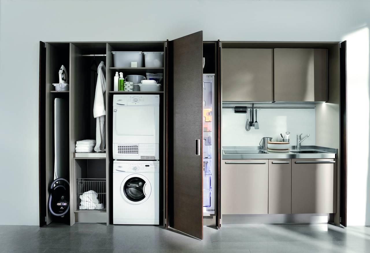 Ambiente cucina project n 50 arclinea lavanderia integrata - Asse da stiro da parete ...