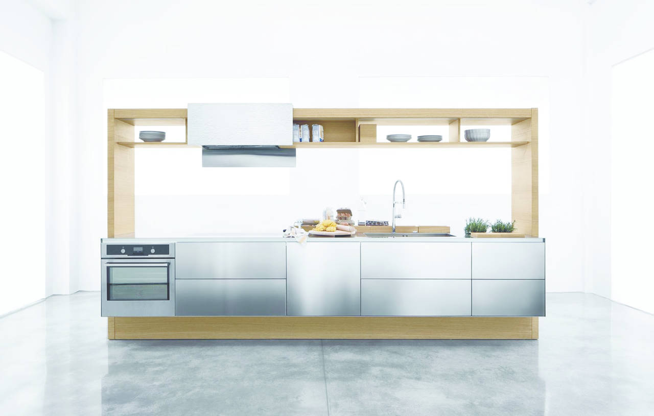 Sistema a isola per cucina Archea. Design: Aris Architects per Cucine contemporanee.