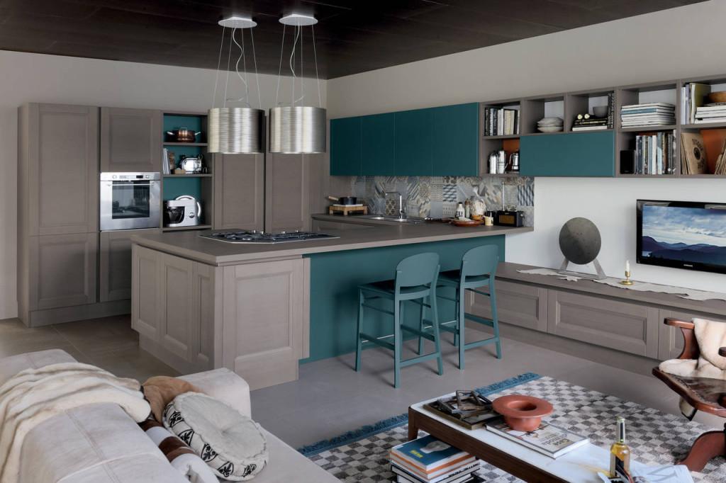 Il colore entra in cucina ambiente cucina