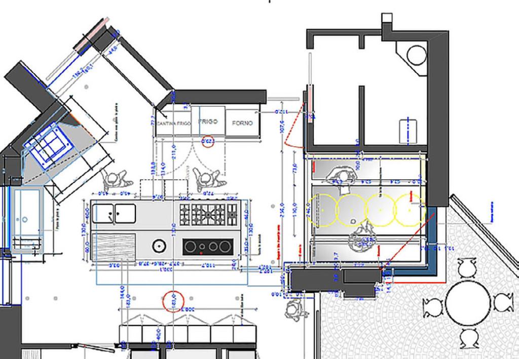 cucina residenziale, progetto udine architetto edoardo petri architect, star kitchen