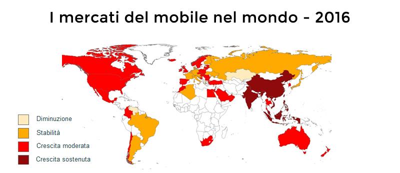 previsioni dei mercati del mobile nel 2016