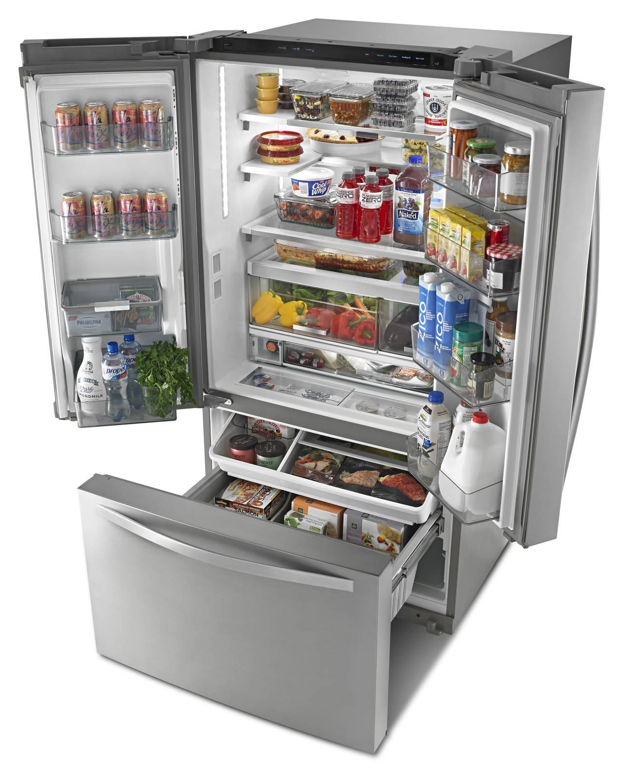 Whirlpool® Smart French Door Bottom Mount Refrigerator è il frigorifero connesso con la piattaforma Works with Nest che consente alle famiglie di mantenere costantemente il controllo del proprio elettrodomestico.