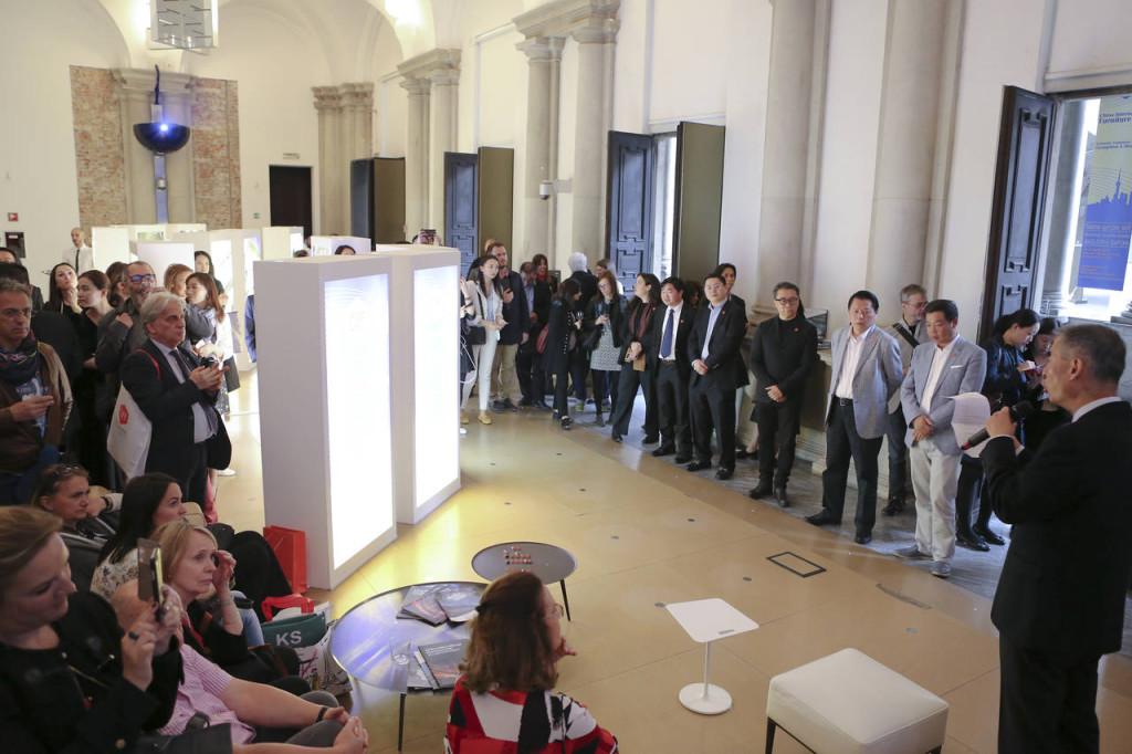 La conferenza stampa promossa da CIFF a Milano, durante la design week