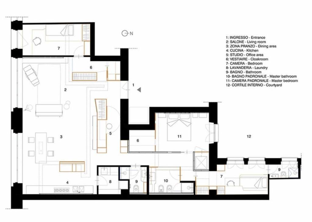 Pianta_appartamento _Progetto_UdA_Torino