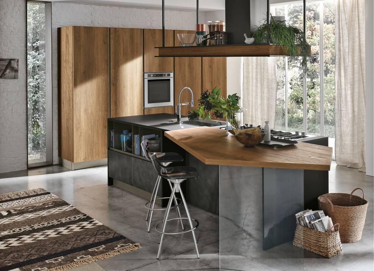 Superfici effetto metallo ambiente cucina for Cucina stosa infinity