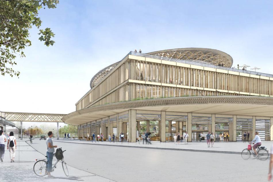 Shigeru ban per la nuova sede di team7 for Architetto giapponese