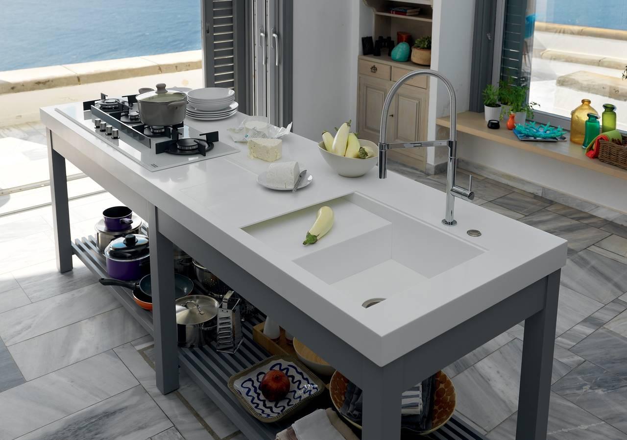 I nuovi piani di lavoro su misura firmati franke - Piani di lavoro cucina materiali ...